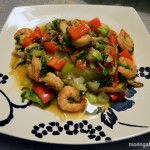 Stir-Fried Shrimps With Moringa Leaves
