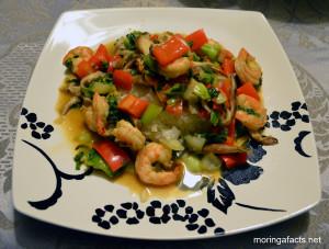 Stir-Fried Shrimps With Moringa Leaves REcipe - Moringa facts